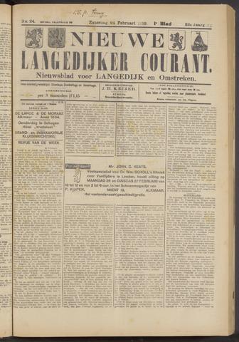 Nieuwe Langedijker Courant 1923-02-24