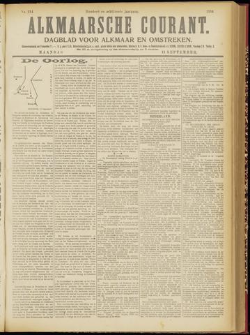 Alkmaarsche Courant 1916-09-11