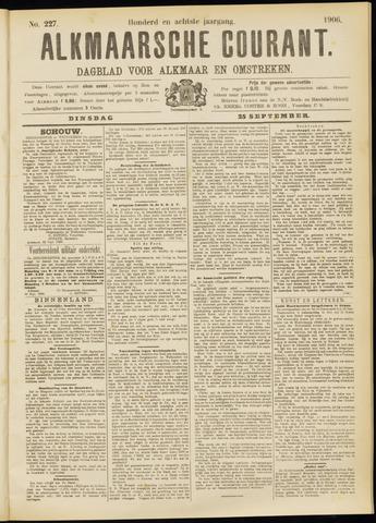 Alkmaarsche Courant 1906-09-25