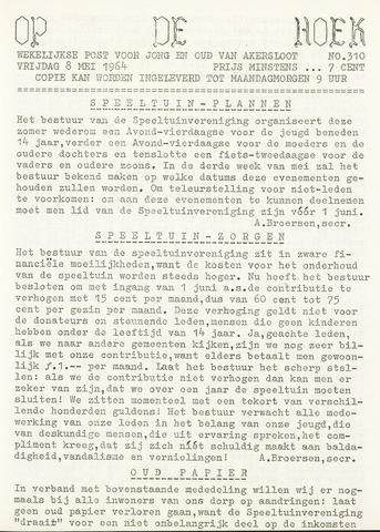 Op De Hoek, weekblad voor Akersloot 1964-05-08