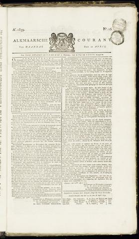 Alkmaarsche Courant 1839-04-22