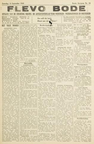 Flevo-bode: nieuwsblad voor Wieringen-Wieringermeer 1946-09-14