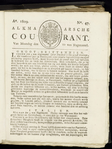 Alkmaarsche Courant 1809-11-20