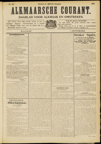 Alkmaarsche Courant 1913-09-01