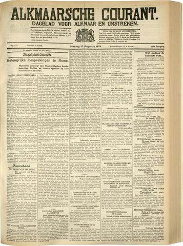 Alkmaarsche Courant 1933-08-22