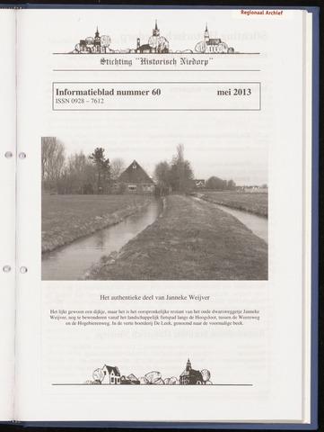 Informatieblad stichting Historisch Niedorp 2013
