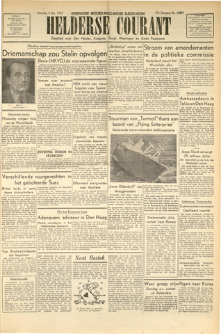 Heldersche Courant 1952-01-05