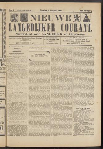 Nieuwe Langedijker Courant 1925-01-06