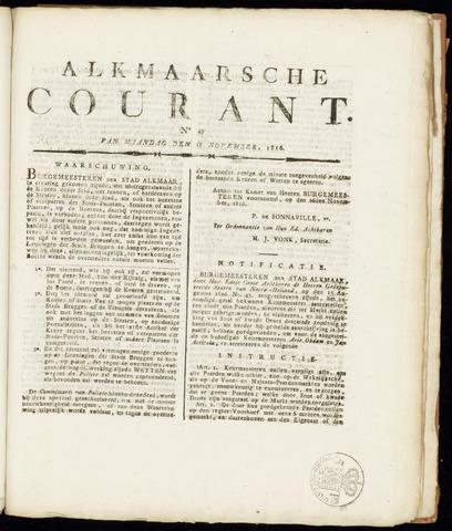 Alkmaarsche Courant 1816-11-18