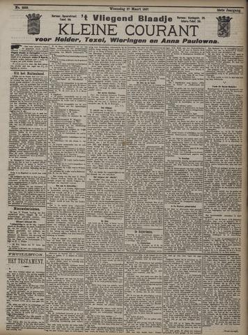 Vliegend blaadje : nieuws- en advertentiebode voor Den Helder 1907-03-27