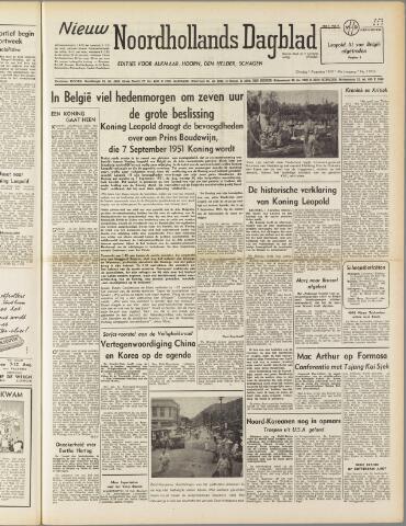 Nieuw Noordhollandsch Dagblad : voor Alkmaar en omgeving 1950-08-01