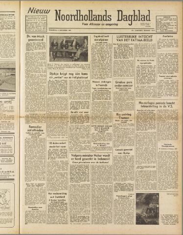 Nieuw Noordhollandsch Dagblad : voor Alkmaar en omgeving 1947-09-03