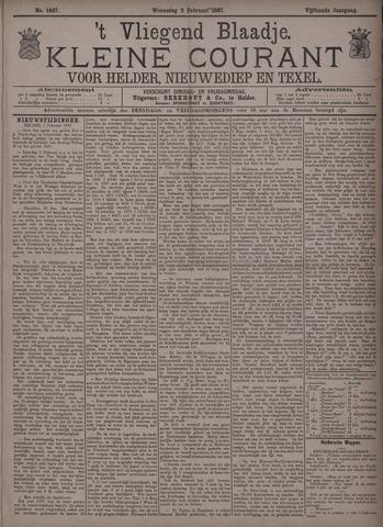 Vliegend blaadje : nieuws- en advertentiebode voor Den Helder 1887-02-02