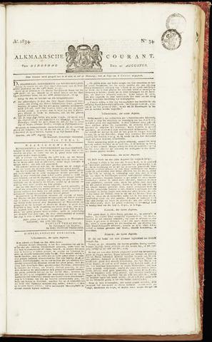 Alkmaarsche Courant 1834-08-26
