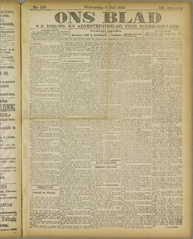 Ons Blad : katholiek nieuwsblad voor N-H 1919-07-09