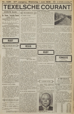 Texelsche Courant 1938-06-01