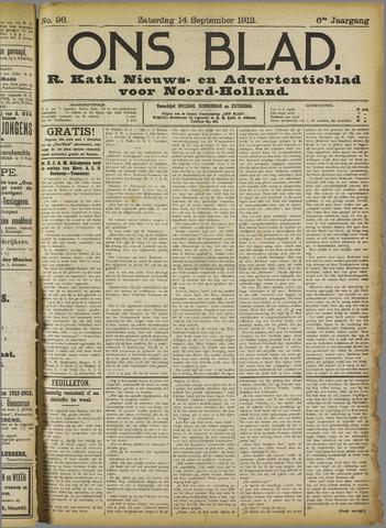 Ons Blad : katholiek nieuwsblad voor N-H 1912-09-14