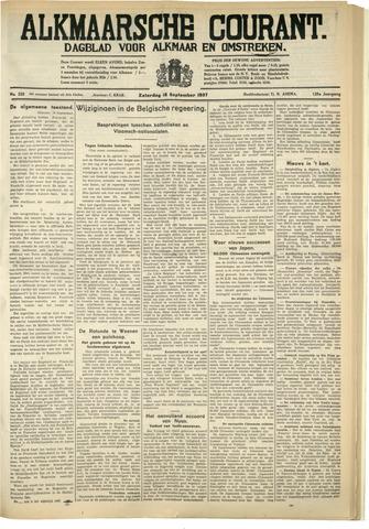 Alkmaarsche Courant 1937-09-18