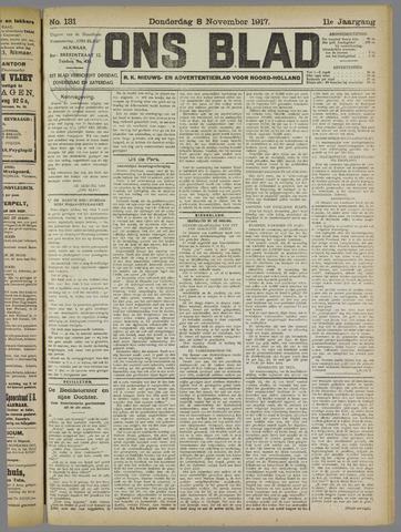Ons Blad : katholiek nieuwsblad voor N-H 1917-11-08