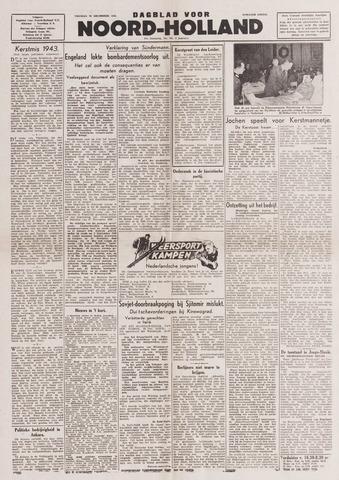 Dagblad Noord-Holland, Schager editie 1943-12-24