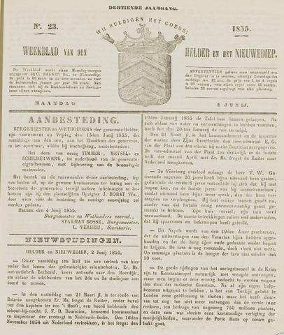 Weekblad van Den Helder en het Nieuwediep 1855-06-04