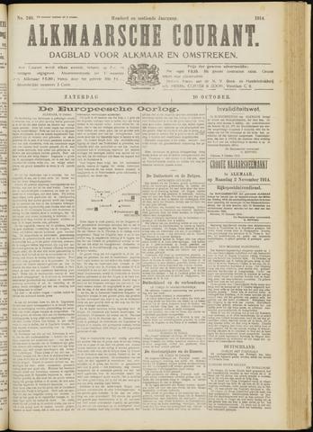 Alkmaarsche Courant 1914-10-10