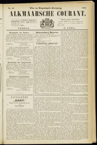 Alkmaarsche Courant 1892-04-15