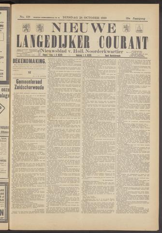 Nieuwe Langedijker Courant 1930-10-28