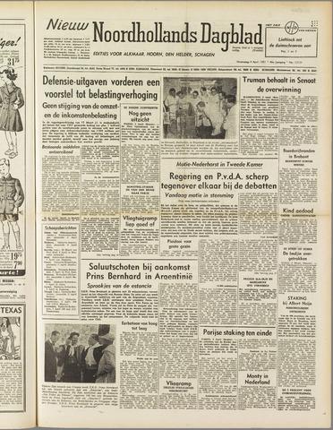 Nieuw Noordhollandsch Dagblad : voor Alkmaar en omgeving 1951-04-04