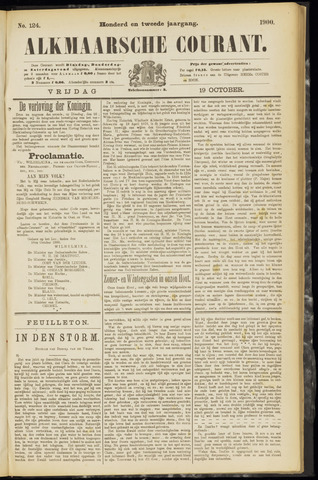 Alkmaarsche Courant 1900-10-19