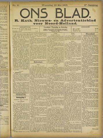 Ons Blad : katholiek nieuwsblad voor N-H 1908-05-20