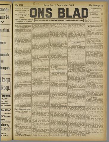 Ons Blad : katholiek nieuwsblad voor N-H 1917-09-01