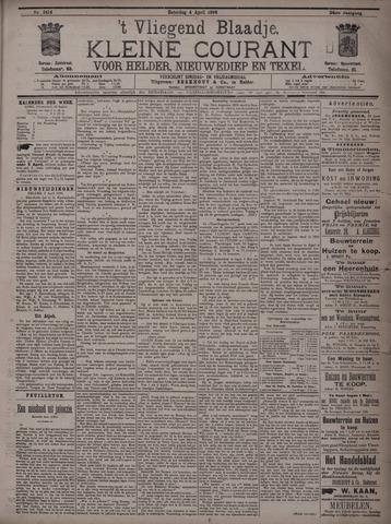 Vliegend blaadje : nieuws- en advertentiebode voor Den Helder 1896-04-04
