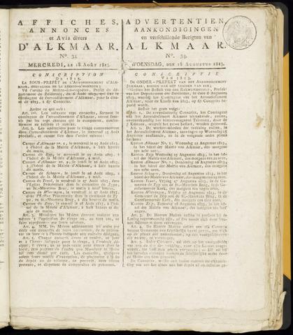 Alkmaarsche Courant 1813-08-18