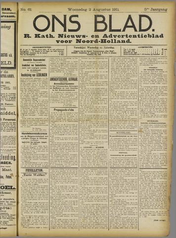 Ons Blad : katholiek nieuwsblad voor N-H 1911-08-02