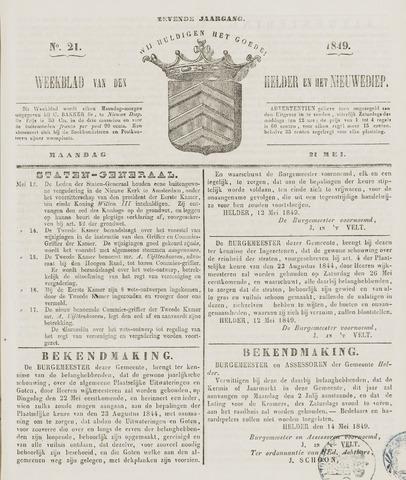 Weekblad van Den Helder en het Nieuwediep 1849-05-21