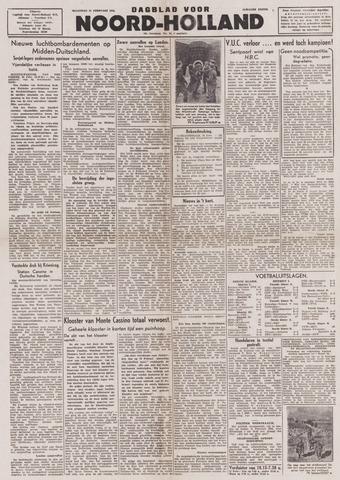 Dagblad Noord-Holland, Schager editie 1944-02-21