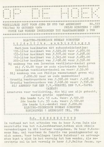 Op De Hoek, weekblad voor Akersloot 1964-10-30