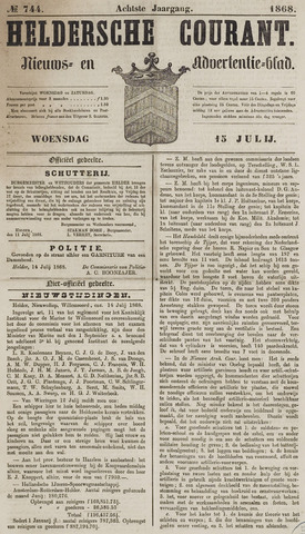 Heldersche Courant 1868-07-15