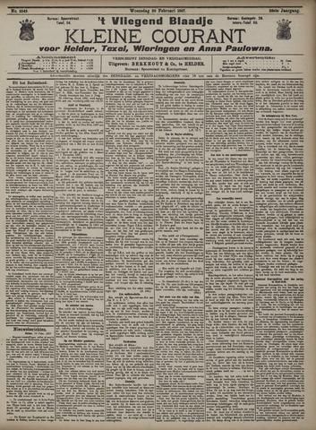 Vliegend blaadje : nieuws- en advertentiebode voor Den Helder 1907-02-20