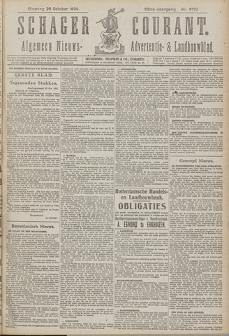 Schager Courant 1920-10-26