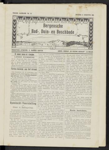 Bergensche bad-, duin- en boschbode 1911-08-04