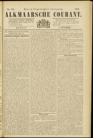 Alkmaarsche Courant 1889-12-01