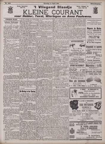 Vliegend blaadje : nieuws- en advertentiebode voor Den Helder 1904-04-16