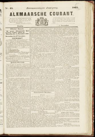 Alkmaarsche Courant 1865-11-05