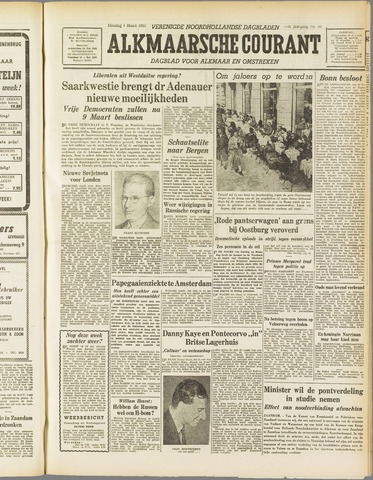 Alkmaarsche Courant 1955-03-01