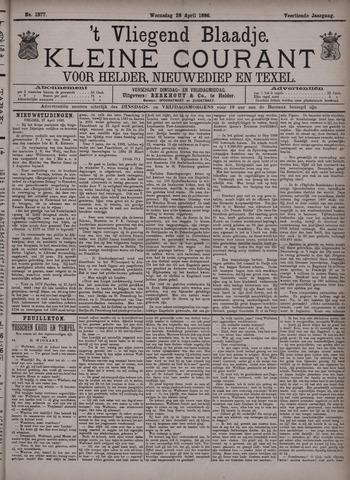 Vliegend blaadje : nieuws- en advertentiebode voor Den Helder 1886-04-28