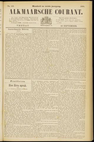 Alkmaarsche Courant 1899-09-22
