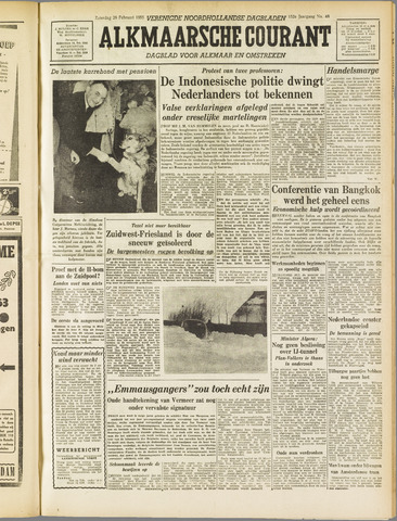 Alkmaarsche Courant 1955-02-26