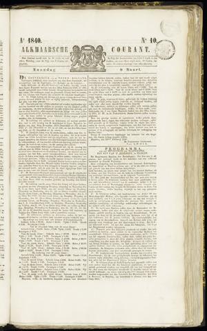 Alkmaarsche Courant 1840-03-09